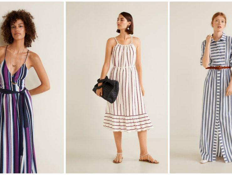 haljine na pruge mango