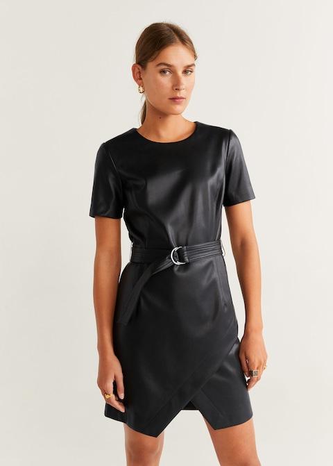 kratka kozna haljina